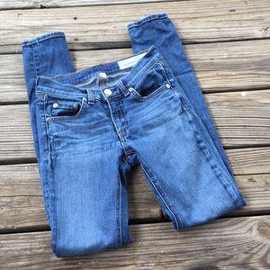 "Rag & Bone Skinny Jeans Size 24 ""Preston"" Wash"